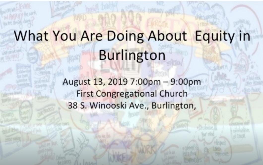What Equity Looks (W.E.L.L.) Like in Burlington